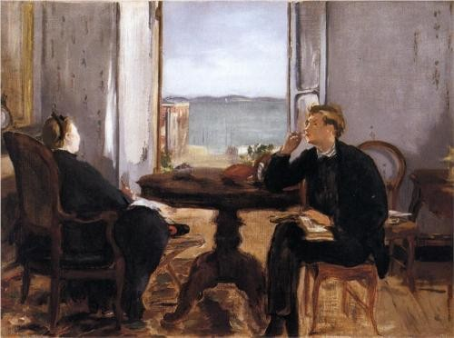 Photo:  Edouard Manet, Interior at Arcachon [1871]